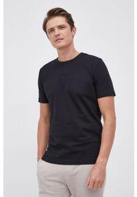 BOSS - Boss - T-shirt bawełniany Boss Athleisure. Okazja: na co dzień. Kolor: czarny. Materiał: bawełna. Wzór: gładki. Styl: casual