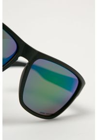 Czarne okulary przeciwsłoneczne Uvex prostokątne, gładkie