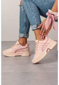 Różowe buty sportowe Casu z cholewką