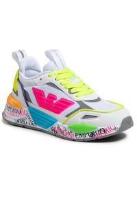 Białe sneakersy Emporio Armani