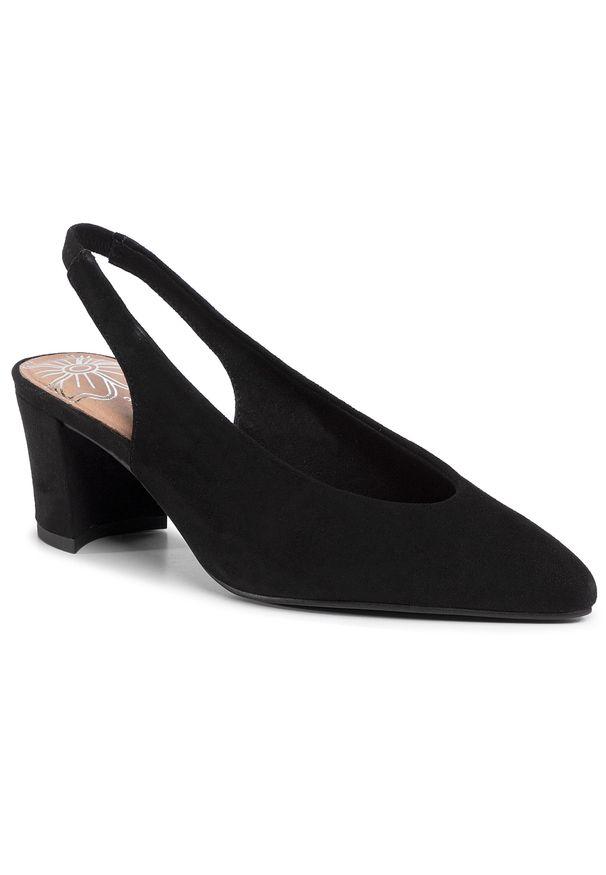 Czarne sandały Marco Tozzi casualowe, na co dzień