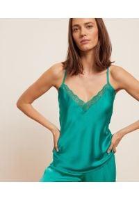 Libellule Koszulka Z Koronką Na Dekolcie I Plecach - L - Zielony - Etam. Kolor: zielony. Materiał: koronka. Wzór: koronka