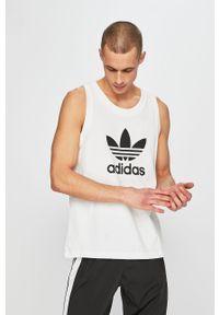 Biały t-shirt adidas Originals z nadrukiem, casualowy
