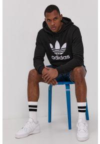 adidas Originals - Bluza bawełniana. Kolor: czarny. Materiał: bawełna. Wzór: nadruk