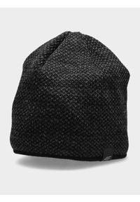 4f - Czapka męska. Kolor: czarny. Materiał: wełna, polar