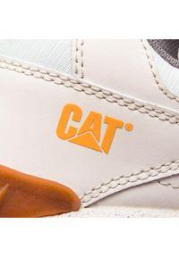 Białe sneakersy CATerpillar z cholewką, na co dzień