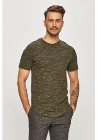 Zielony t-shirt Only & Sons casualowy, na co dzień