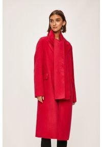 Różowy płaszcz TOMMY HILFIGER casualowy, bez kaptura