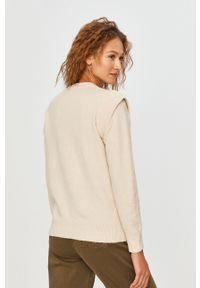 Kremowy sweter Answear Lab wakacyjny, z długim rękawem, na co dzień, długi