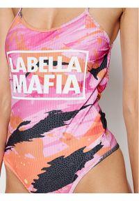 LABELLAMAFIA - LaBellaMafia Body 20814 Różowy Slim Fit. Kolor: różowy