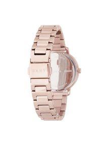 Różowy zegarek DKNY klasyczny
