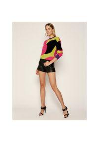 Sweter klasyczny Manila Grace w kolorowe wzory