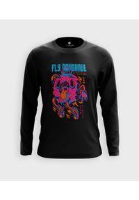 MegaKoszulki - Koszulka męska z dł. rękawem Lecący pączek. Materiał: bawełna