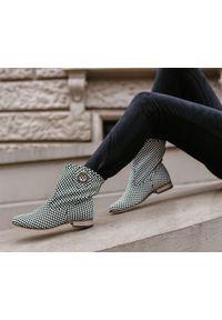 Botki Zapato bez zapięcia, z cholewką