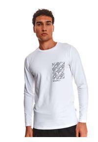 TOP SECRET - T-shirt z nadrukiem. Kolor: biały. Wzór: nadruk