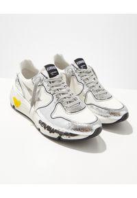 GOLDEN GOOSE - Srebrne sneakersy Running. Okazja: na co dzień. Kolor: srebrny. Materiał: guma. Sport: bieganie