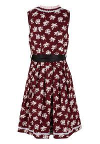 Czerwona sukienka bonprix midi, z nadrukiem