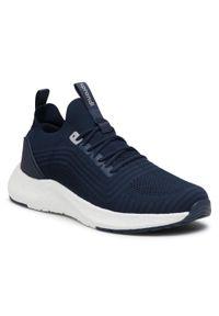 Niebieskie buty treningowe Sprandi z cholewką