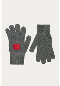 Szare rękawiczki Hugo melanż