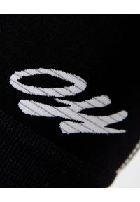 OFF-WHITE - Czarne kolarki z logo. Okazja: na co dzień. Stan: podwyższony. Kolor: czarny. Materiał: materiał. Wzór: nadruk. Styl: casual