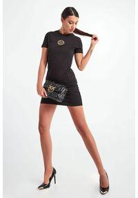 Versace Jeans Couture - SUKIENKA VERSACE JEANS COUTURE. Materiał: guma. Długość rękawa: krótki rękaw. Typ sukienki: dopasowane. Długość: mini