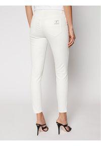 Białe jeansy slim Elisabetta Franchi
