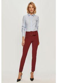 Czerwone spodnie materiałowe Stefanel klasyczne