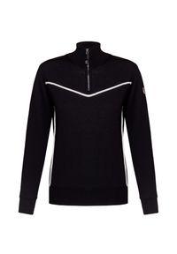 Czarny sweter Chervo krótki, z golfem
