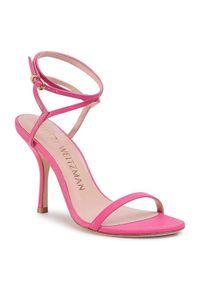 Stuart Weitzman Sandały Merinda S5570 Różowy. Kolor: różowy
