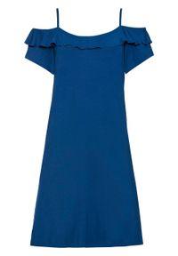 Niebieska sukienka bonprix prosta