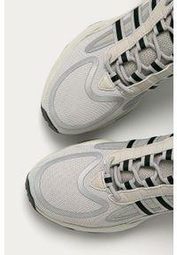 Szare sneakersy adidas Originals z okrągłym noskiem, na sznurówki, z cholewką