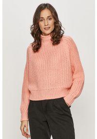 Różowy sweter Brave Soul casualowy, na co dzień
