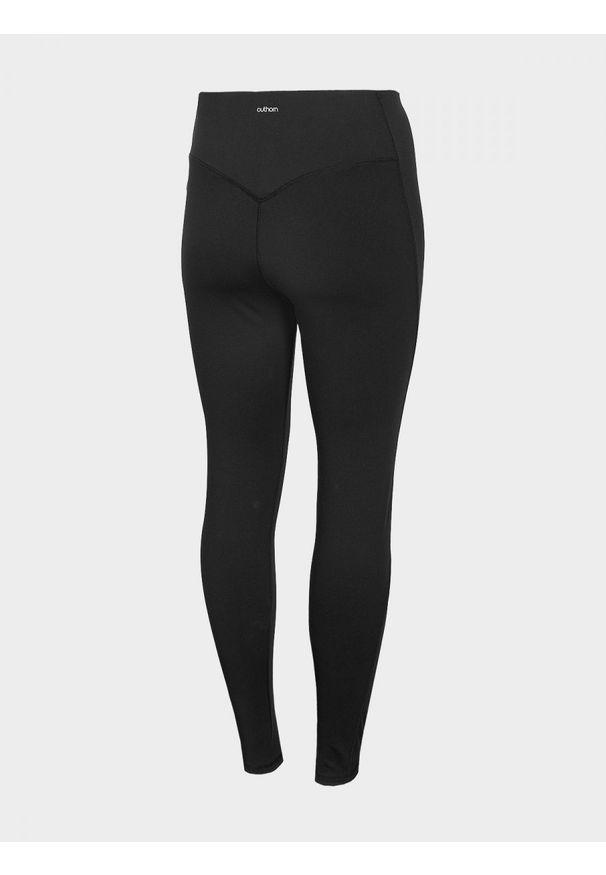 Spodnie do fitnessu outhorn z podwyższonym stanem