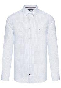 Tommy Hilfiger Tailored Koszula Cl Mini All Over Print MW0MW18450 Niebieski Regular Fit. Kolor: niebieski. Wzór: nadruk