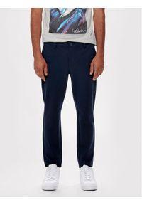 Only & Sons Spodnie materiałowe Mark 22013727 Granatowy Slim Fit. Kolor: niebieski. Materiał: materiał