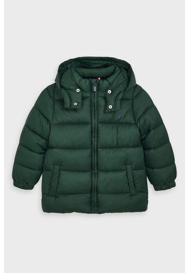 Zielona kurtka Mayoral casualowa, na co dzień, z kapturem