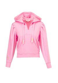 LoveShackFancy - Bluza LOVESHACKFANCY ALOUETTE. Kolor: różowy. Materiał: bawełna. Wzór: aplikacja. Sezon: lato