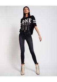 ONETEASPOON - Czarny t-shirt One Sports Tee. Kolor: czarny. Materiał: bawełna. Wzór: napisy, nadruk. Styl: sportowy