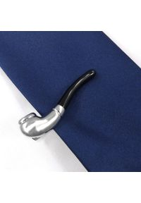 Adam Collection - Srebrna spinka do krawata - fajka ZS18. Kolor: srebrny
