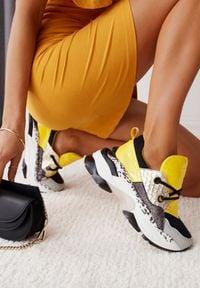 Renee - Żółte Sneakersy Leuceris. Kolor: żółty
