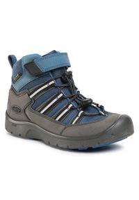 keen - Trekkingi KEEN - Hikeport 2 Sport Mid Wp 1022781 Majolica/Sky Diver. Kolor: niebieski. Materiał: materiał, skóra. Styl: sportowy