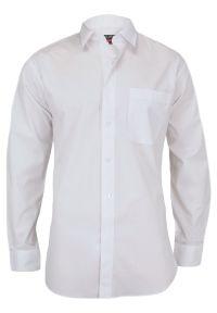 Biała elegancka koszula Jurel długa, na spotkanie biznesowe