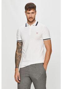 Biała koszulka polo Guess Jeans krótka, polo