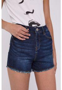 Morgan - Szorty jeansowe. Okazja: na co dzień. Kolor: niebieski. Materiał: jeans. Styl: casual