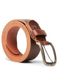 Jack & Jones - Jack&Jones Pasek Męski Jackpaul Leather Belt 12111286 Brązowy. Kolor: brązowy