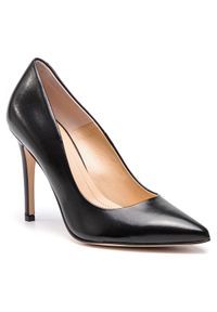Czarne półbuty Solo Femme eleganckie, na średnim obcasie