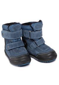 RenBut - Kozaki RENBUT - 12-1524 Jeans. Wysokość cholewki: przed kolano. Kolor: niebieski. Materiał: skóra, zamsz. Szerokość cholewki: normalna. Sezon: zima