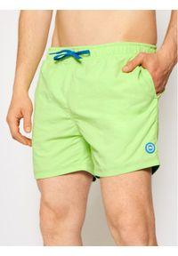 CMP Szorty kąpielowe 3R50027N Zielony Regular Fit. Kolor: zielony