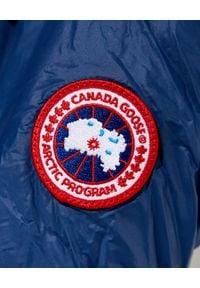 CANADA GOOSE - Granatowa parka Ellison. Okazja: na spacer. Kolor: niebieski. Materiał: materiał, puch. Długość: długie. Sezon: wiosna