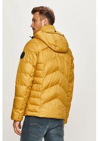 Żółta kurtka G-Star RAW casualowa, na co dzień, z kapturem